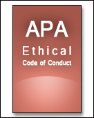 apa ethics code Apa ethics code 2002 is a 2 hour continuing education course for mental health professionals.